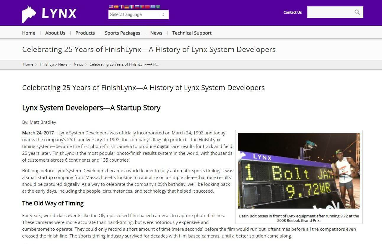 Lynx content marketing blog