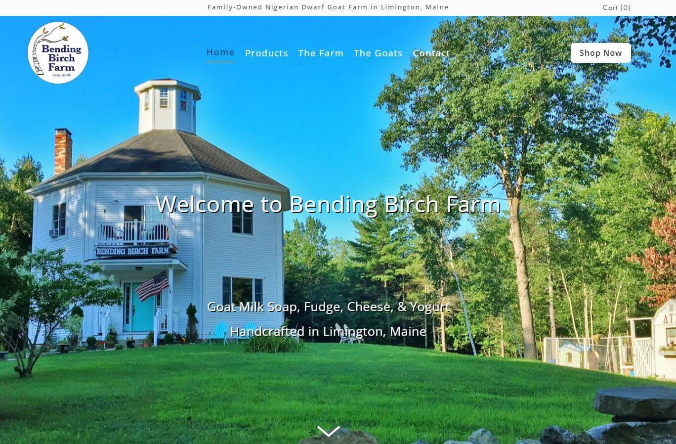 Bending Birch Farm Website